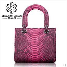 mengzhongmeng real Python skin women bag single shoulder women handbag American fashion retro portable crossbody bag