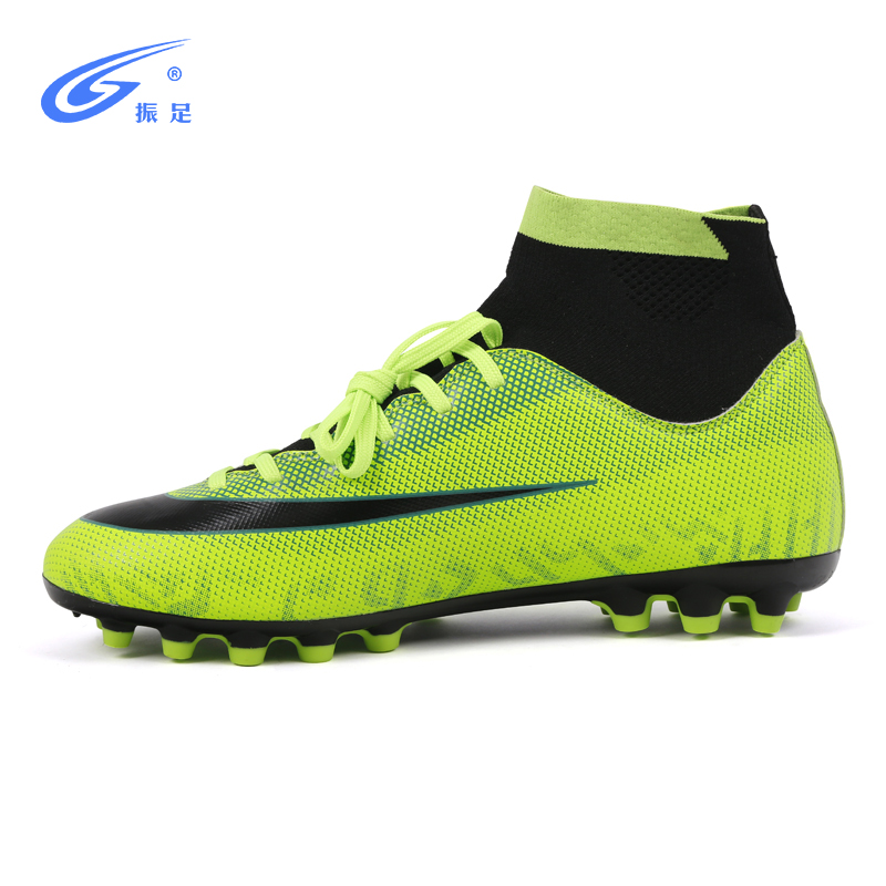 Indoor Futsal Soccer Boots Long Spikes High Tops Sneakers Men Soccer Cleats Original Cheap Football with Sports for Women & Men image
