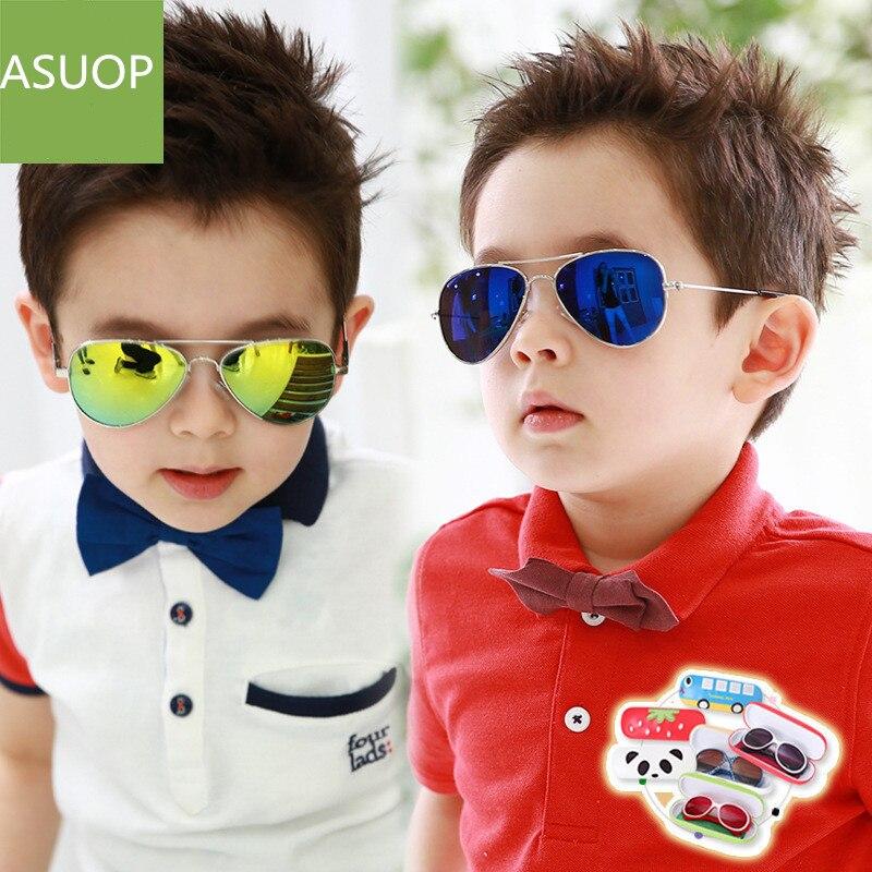 2019 new men and women children 39 s sunglasses oval metal pilot fashion glasses classic brand design UV400 child goggles in Sunglasses from Mother amp Kids