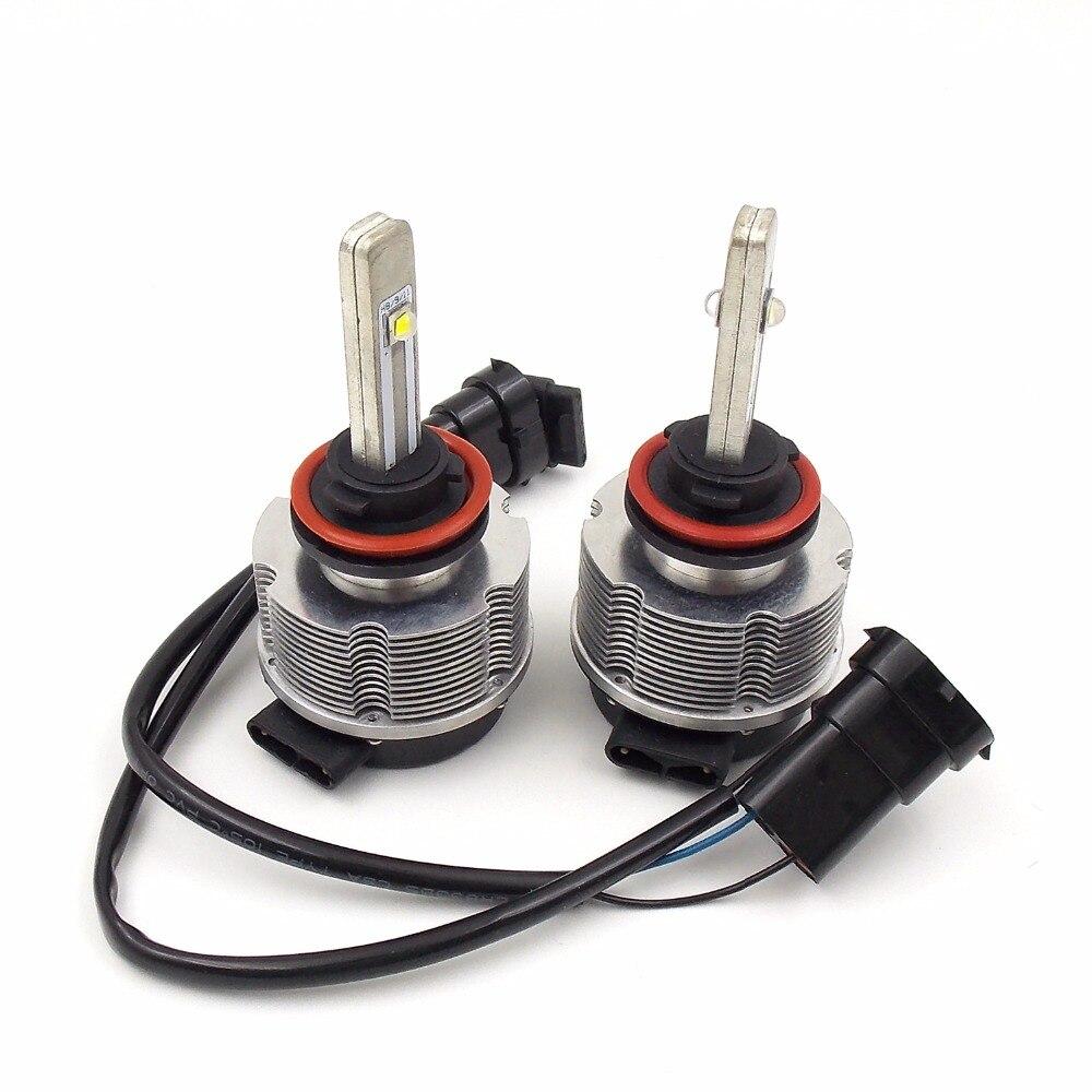 Высококачественная автомобильная светодиодная лампа для фары конверсионный комплект H8/H9/H11 12 V 24 V 6000K 2400LM 20W автоматический головной светильник (пара) - 5