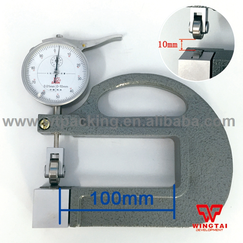0.01mm Dial Thickness Gauge Meter 0-10mm Leather/Film/Fabric Thickness Gauge With Roller Insert exploit high precision 0 01mm profession digital lcd display thickness gauge meter paper leather fabric thickness tester