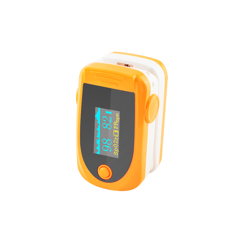 50 PC Health Care Color Orange Finger Pulse Oximeter Blood Oxygen SPO2 PR Oximetro de dedo digital Portable Finger Oximeter 1 2 lcd digital clip on finger pulse oxygen blood oximeter w alarm orange white 2 x aaa