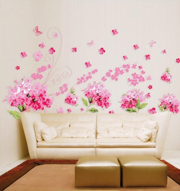 High quality flower Para Para Sakura DIY Removable Art Vinyl Wall Stickers Decor Mural Decal AY957