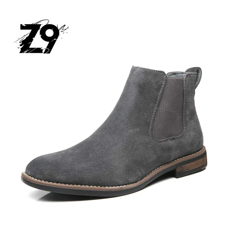 Z9 NEW style men shoes Cow Suede leather winter men boots High quality casual comfortable shoe size 40-45 Free shipping #E991 цена