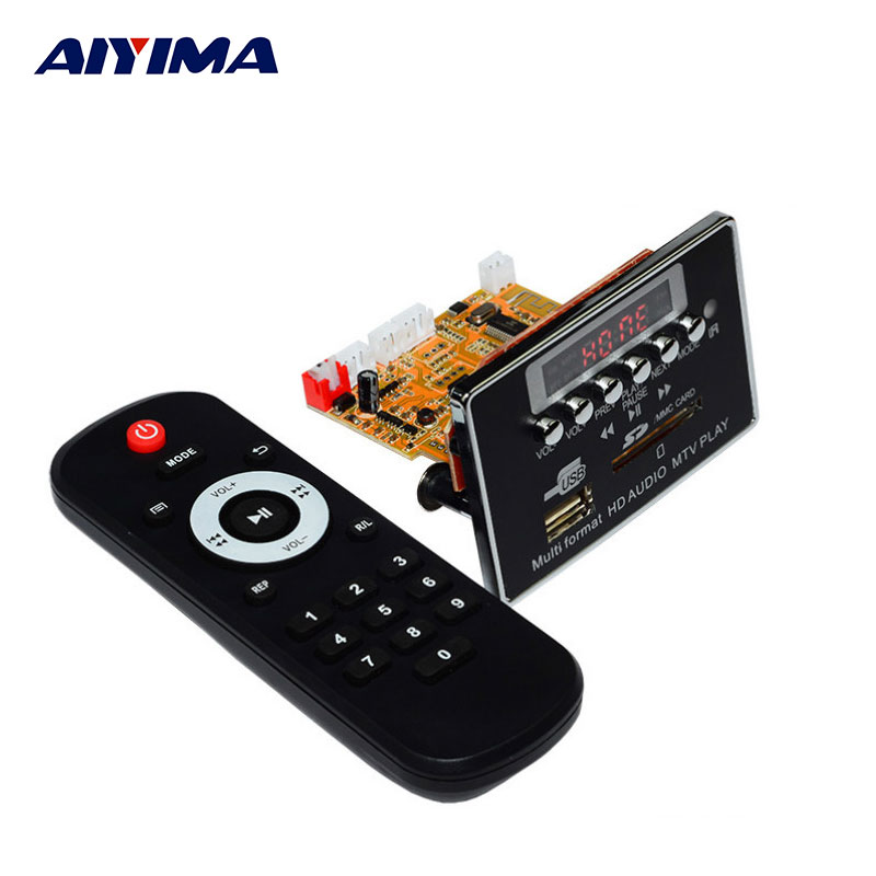 AIYIMA MP3 Player DTS Lossless HD Video Player Decoding Board MP3 Decoder APE Player Bluetooth Audio Board For Home Theater