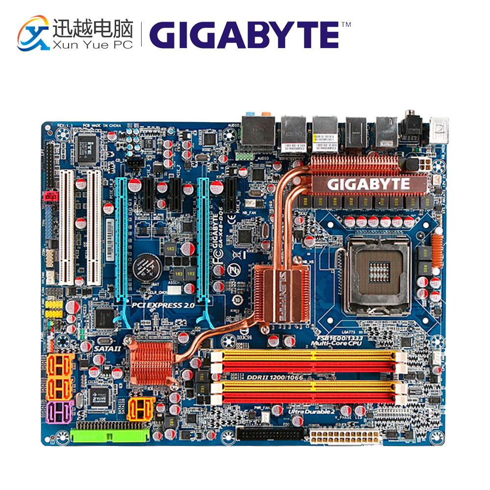 Gigabyte GA-X48-DQ6 Desktop Motherboard X48-DQ6 X48 LGA 775 DDR2 8G SATA2 ATX gigabyte ga 965p s3 desktop motherboard 965p s3 p965 lga 775 ddr2 sata2 atx