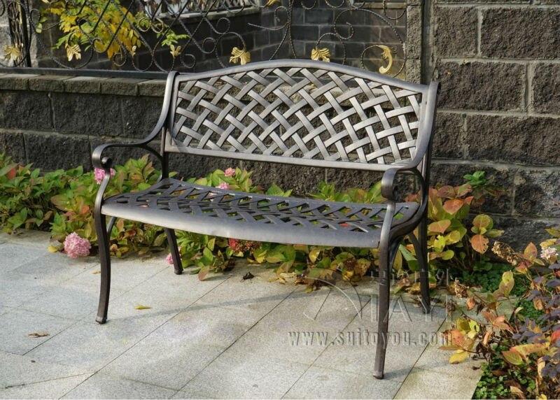 2 person antique cast aluminum good quality luxury durable park bench garden chair for outdoor luxury aluminum watch