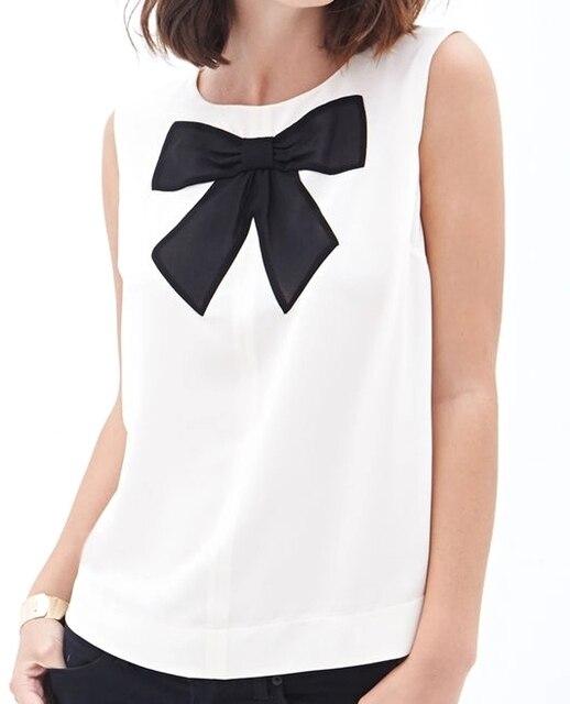 2015 Новая Мода Твердые Регулярный Симпатичные Лук О-Образным Вырезом Развивать нравственность Женщины Летние Топы GYTLL818 Горячей Продажи