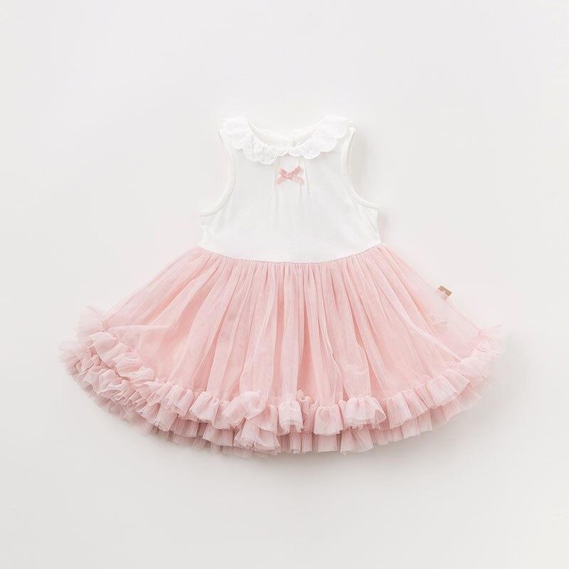 DBM9591 dave bella bébé fille robe à manches longues automne robes rose vêtements enfants fête d'anniversaire boutique robe - 4