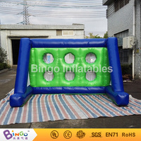 Kids Shooting Practise Inflated Soccer Goal Set Inflatable Football Gate for Outdoor Fun Plays Party 3X2X2M Bingo toy sport