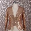 RSJ23 Длинным Рукавом Куртки Золото Блесток Болеро Для Женщин