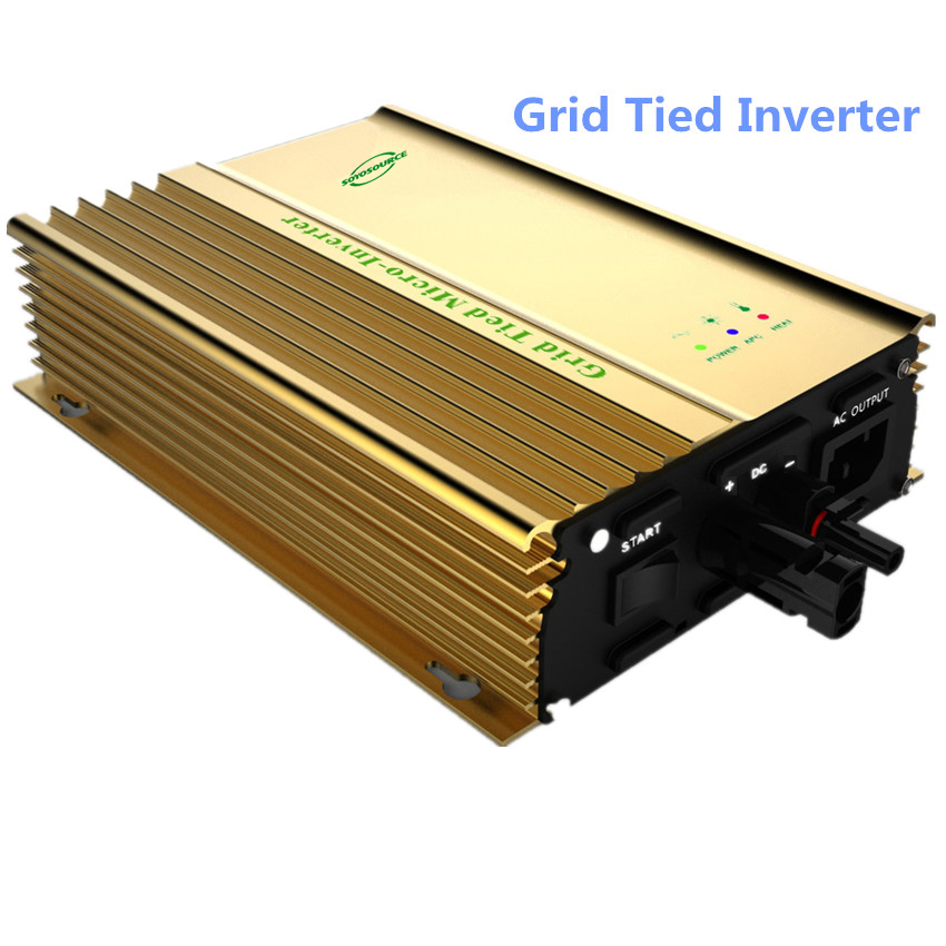 300W 12v inverter 24v On-grid Solar Power Inverter 36v invertor 48v Pure Sine wave micro inverter mppt inverter plug and play mini power on grid tie solar panel inverter with mppt function led output pure sine wave 600w 600watts micro inverter