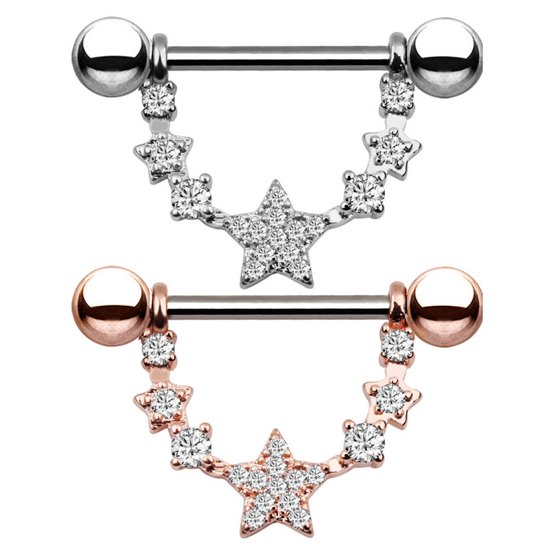 1pcs Rose Gold Colors Stainless Steel U Shaped Oval Water Drop Silver Sexy Nipple Piercing Women Body Piercing Jewelry Fashion To Win A High Admiration
