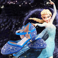 Top quality Children girl's Snow queen Elsa girl princess Crystal Rhinestone shoes single  Sandals fashion dance shoes 28-37
