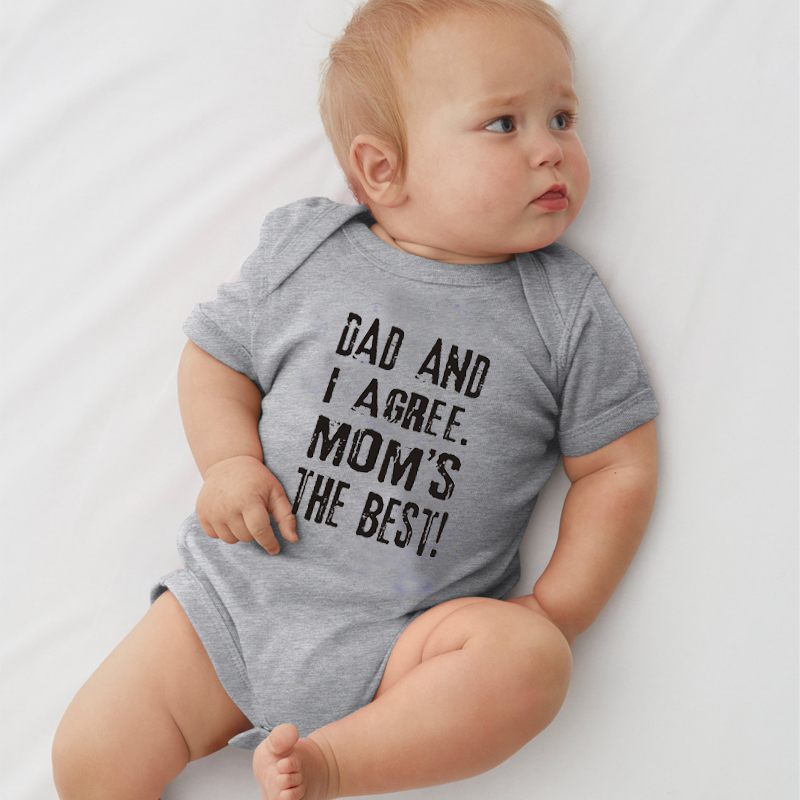 47e30484a HY0106 Dad and I Agree Mom's The Best Print Funny Baby Clothes Unisex Baby  Bodysuit -in Bodysuits from Mother & Kids on Aliexpress.com | Alibaba Group