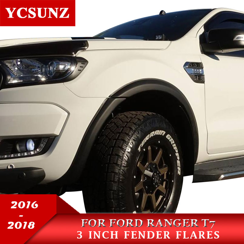 3 Inch Fender Flares Wheel Arch For Ford Ranger T7 2016 2017 2018 Wildtrak Double Cabin
