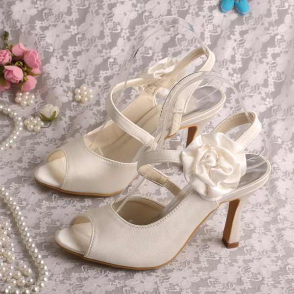 Wedopus Mw261 Brand Name Cream Slingback Heel Wedding Flower Shoes 9cm In Women S Pumps From On Aliexpress Alibaba Group