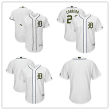 5630a6fe3 Custom Men s Detroit Tigers Miguel Cabrera White 2018 Memorial Day Cool Base  Flex Base Authentic Collection