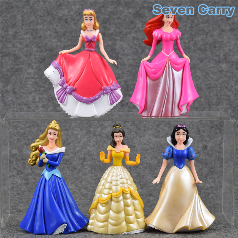 Considerate High Quality Princess Sleeping Beauty Snow White Belle Cinderella Pvc Action Figure Collectible Model Toy 12-13 5pcs/set Csdb21 Action & Toy Figures
