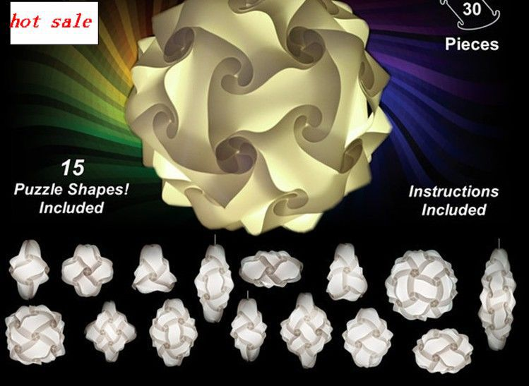 Free Shipping Diy Light Chandelier Iq Puzzle Jigsaw Lights Small Size Mix Color Ng 10 Sets Per Lot