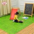 Meitoku Корпусных Зеленый Газон Игра-Головоломка Мат, 8 шт. или 16 шт./лот Пены EVA Централизации плитка для детей, пол ковры или ковровые Каждый: 60x60 cm