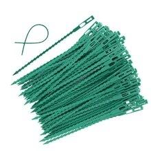 50/100 шт Регулируемый Пластик завод кабельные стяжки Многоразовые Кабельные стяжки для сада дерево восхождение Поддержка растений лоза помидор стержень зажим