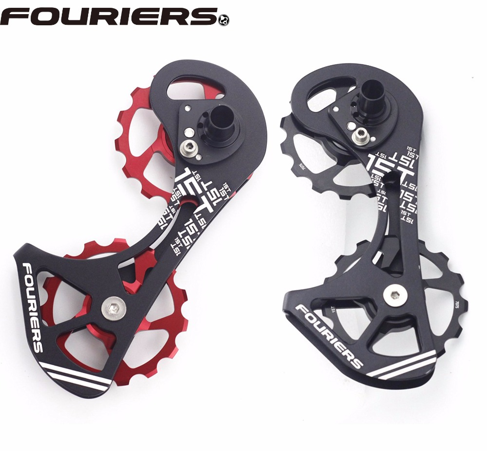 Fouriers Oversize Derailleur Cage Kit 15T For SHIMANO RD 9000 9070 6800 6870 Cycling Ceramic Bearing Rear Derailleur shimano rd 6700 ultegra rear derailleur bike bicycle road rear derailleur rd 6700