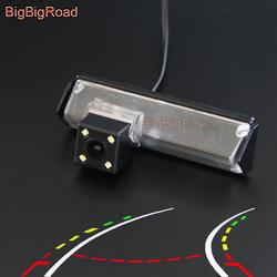 BigBigRoad автомобиль интеллектуальные динамический траектории треков заднего вида CCD Камера для Mitsubishi Pajero Sport Montero Grandis Challenger