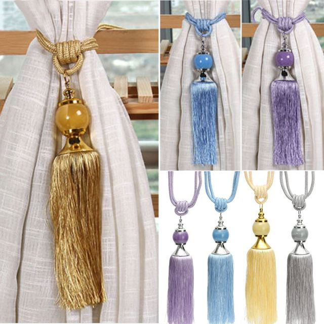 2Pcs/Set Windows Curtain Holdbacks Rope Tassel Tiebacks Cutain Rope ...