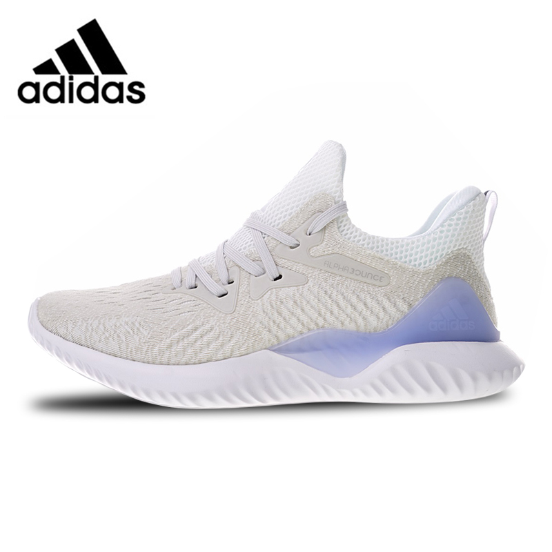 Adidas Alphabounce Sports Sneakers Breathable Running Shoes Silver Purple CG5558 for Men 40-45 EUR Size M