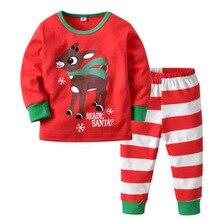 Christmas Pajama Set  Winter Childrens Boys Cotton Pajamas Baby Girl Clothing Suit Cartoon 2-9Y