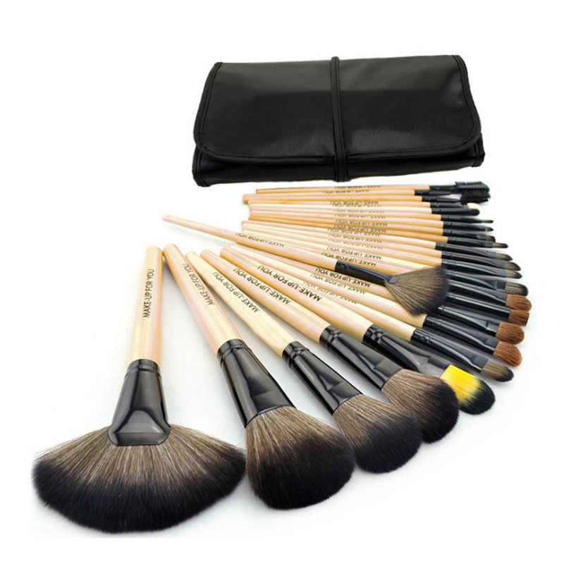 Professional Powder Foundation Brush Kit 24pcs Makeup Brushes Set Cosmetic Powder Make Up Tools Blush Brush with Bag 4 Colors 12pcs professional soft cosmetic face brush finishing powder blush brush sets for women with red cloth bag