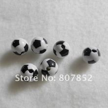 Chengkai 100pcs White 12mm Plastic Soccer Bead Football Bead for DIY Craft / Acrylic Sport Bead for dummy clip chain / key ring