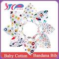 Novo produto boutique bonito personalizado impressão do bebê do algodão bibs bandana