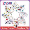 Nuevo producto boutique lindo impresión personalizada de algodón baberos de bebé pañuelo
