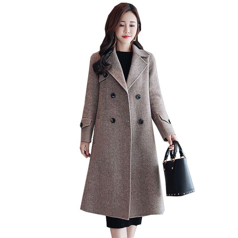 Vêtements Nouvelles Mode Couleur Manteau Revers 2 Loisirs Lâche Femmes Fit  Harajuku Veste Slim Solide Laine Luxe De ... 1764ca432e96