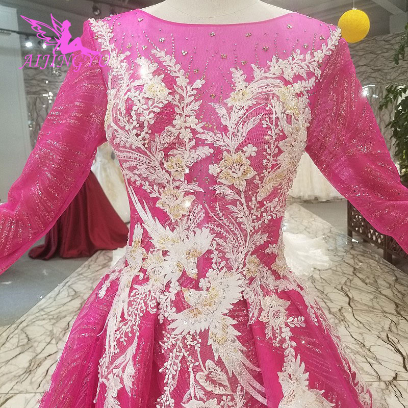 AIJINGYU Wedding Dresses Online Shop Buy Gown Lace Vintage Beijing Bridal Luxury Outfits Puffy Gown Vintage Boho Wedding Dress