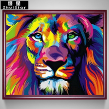 New 5D DIY Diamond Painting Colorful Lion Embroidery Full Square Diamond Cross Stitch Rhinestone Mosaic Painting Wall Decor Gift