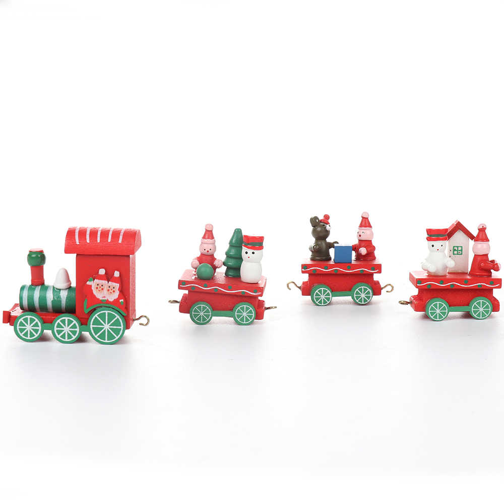 חמוד חג המולד עץ רכבת צעצועי להסרה פסטיבל עיצוב הבית Creative חג המולד יום הולדת מתנות לילדים