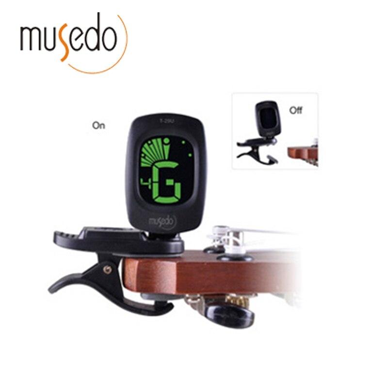 Musedo T-29U Mini Clip-on Clip on LCD Display Ukulele Tuner Backlight 360 Degree Rotatable Clip Ukulele [Ukulele Dedicated]