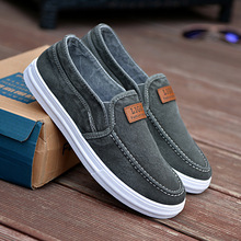 Blue Casual Men Shoes Slip on Designer