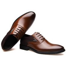 BIMUDUIYU Business Men's Basic Flat Super fiber Leather Gentle Wedding Dress Shoes Luxury Brand Formal Wearing British Big Size