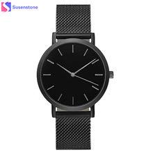 86d3d03e3975 Reloj de pulsera de cuarzo analógico con correa de acero inoxidable a la  moda para hombre y mujer reloj de pulsera de lujo de es.