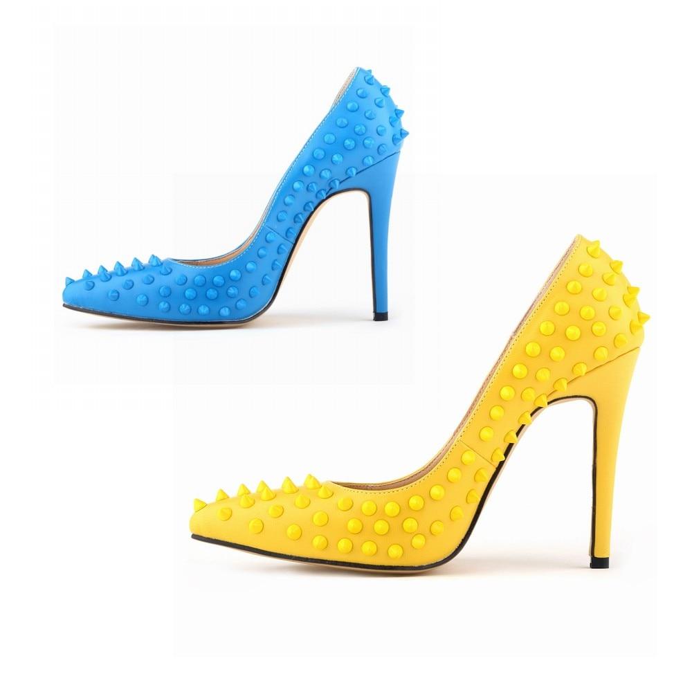 Robe Talons Bout Mince 2018 Sexy Femmes 5 Femme Designer Chaussures Nx De 4 Taille Pompes Talon a0109 8 2 7 Hauts 6 Grande 3 Rivet 1 Pointu 6t8YPqwt