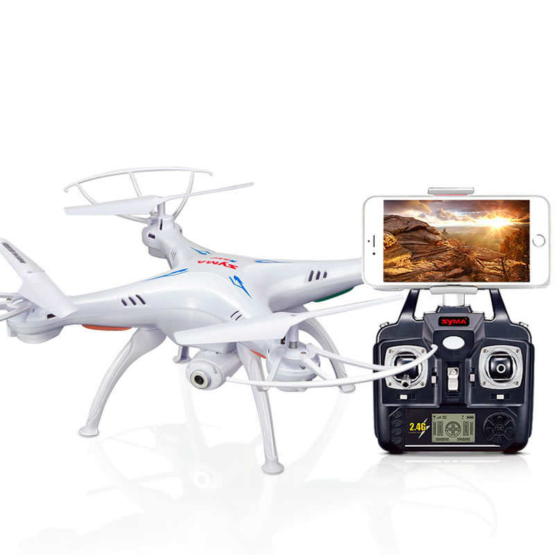 Syma X5SW 2.4Ghz 4CH 6Axis Gyro RC Quadcopter with HD Wifi Selfie Camera Mini Drone UFO Classic Helicopter Gift for Beginner Boy high quqlity mini rc quadcopter 2 4ghz 4ch 6 axis gyro 3d ufo drone with 2 0mp hd camera gift for children free shipping