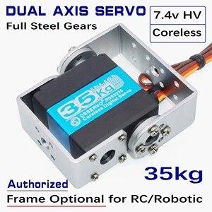 Image 2 - RDS3235 35kg Telaio Opzionale Coreless Cassa del Metallo In Acciaio Inox Gear Standard Dual Alberi Asse Arduino Robot Servo UAV Aereo