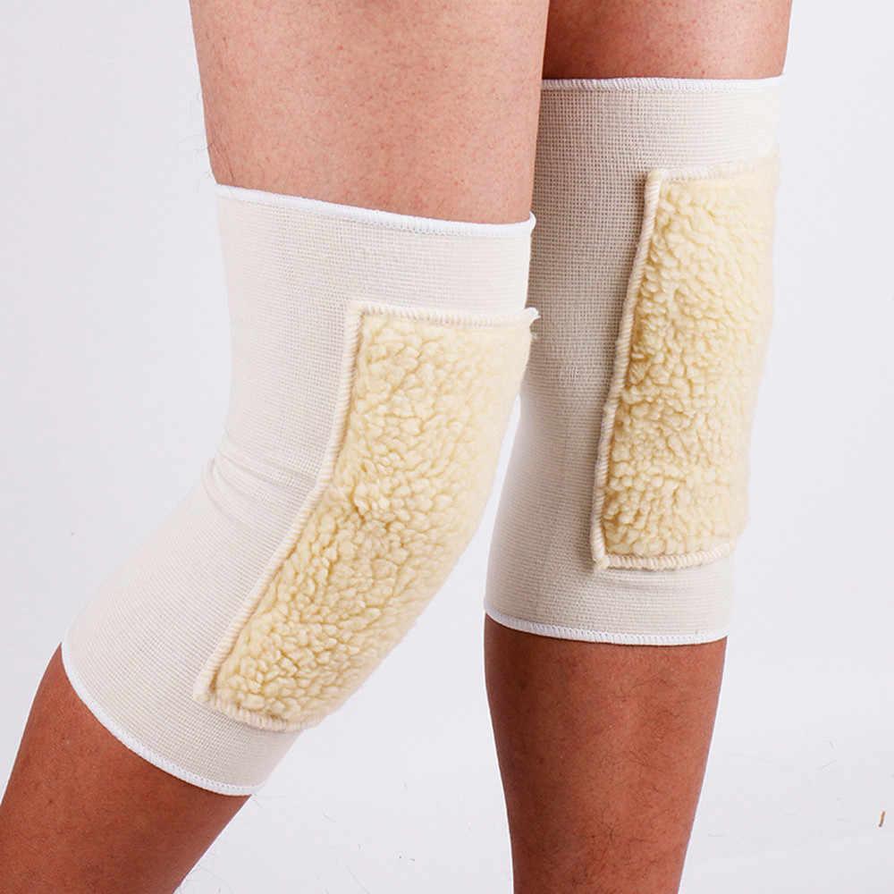 Kobiety mężczyźni ciepłe Knee Warmers z kaszmiru wełny noga udo wysokie skarpetki Pad Legging 2018