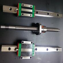 8 HGH15 Square Linear guide наборы + 3 x СФУ/RM1605 & 1610 Ballscrew наборы + BK BF12 + муфты для чпу частей