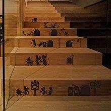 ratn de la historieta de pared de vinilo pegatinas escaleras sala de arte decoracin diseo ratones agujero etiquetas de la pared decoracin de la venta with