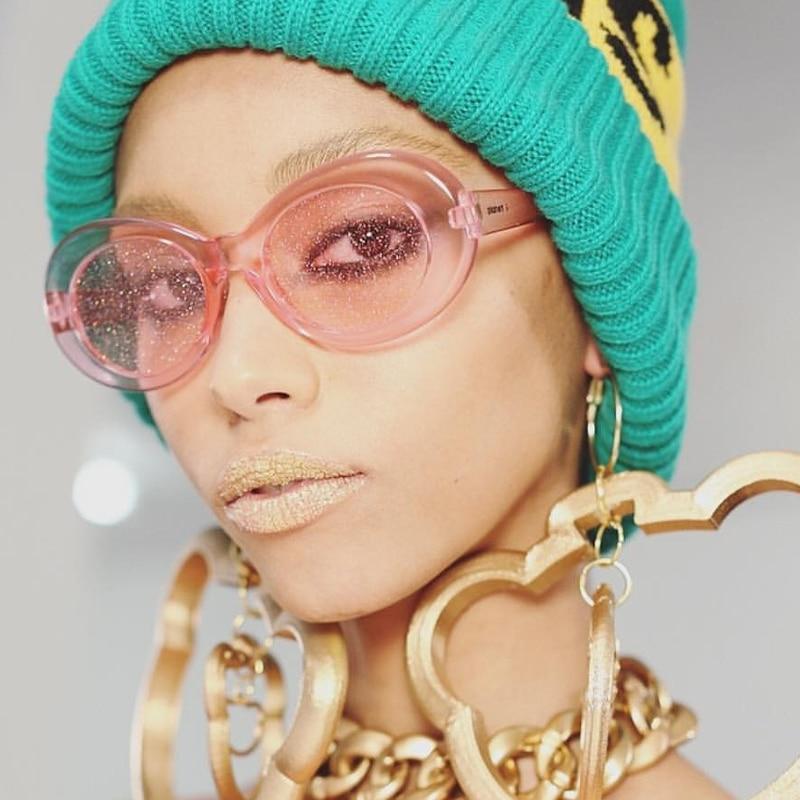 XONIX Red Oval Gafas de sol Mujeres Colorido Color caramelo Amarillo - Accesorios para la ropa